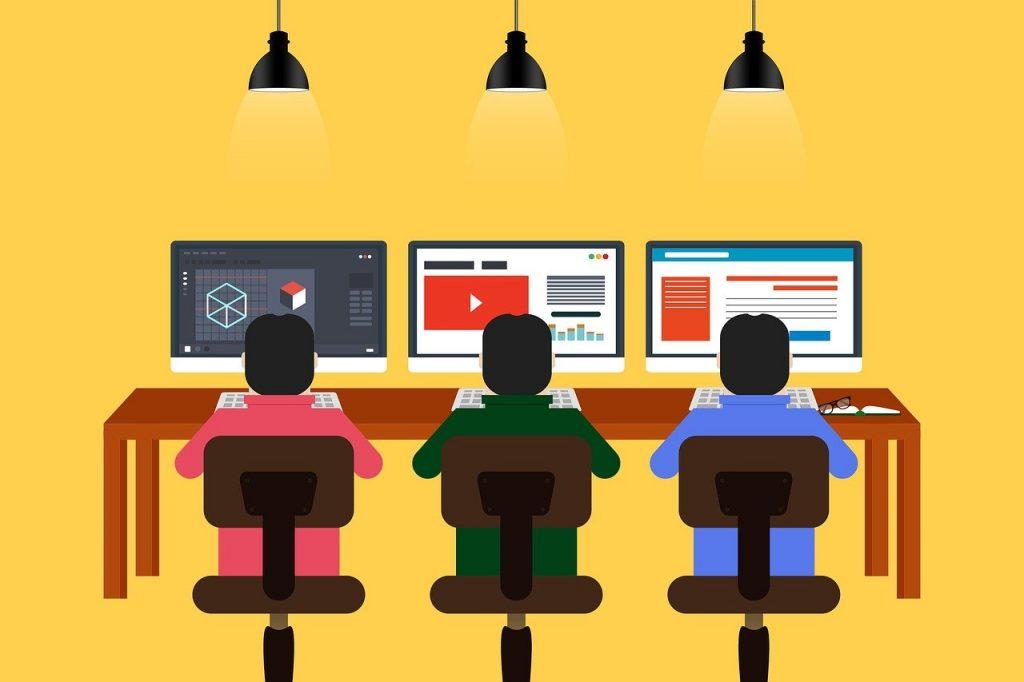 programming, designing, coworking